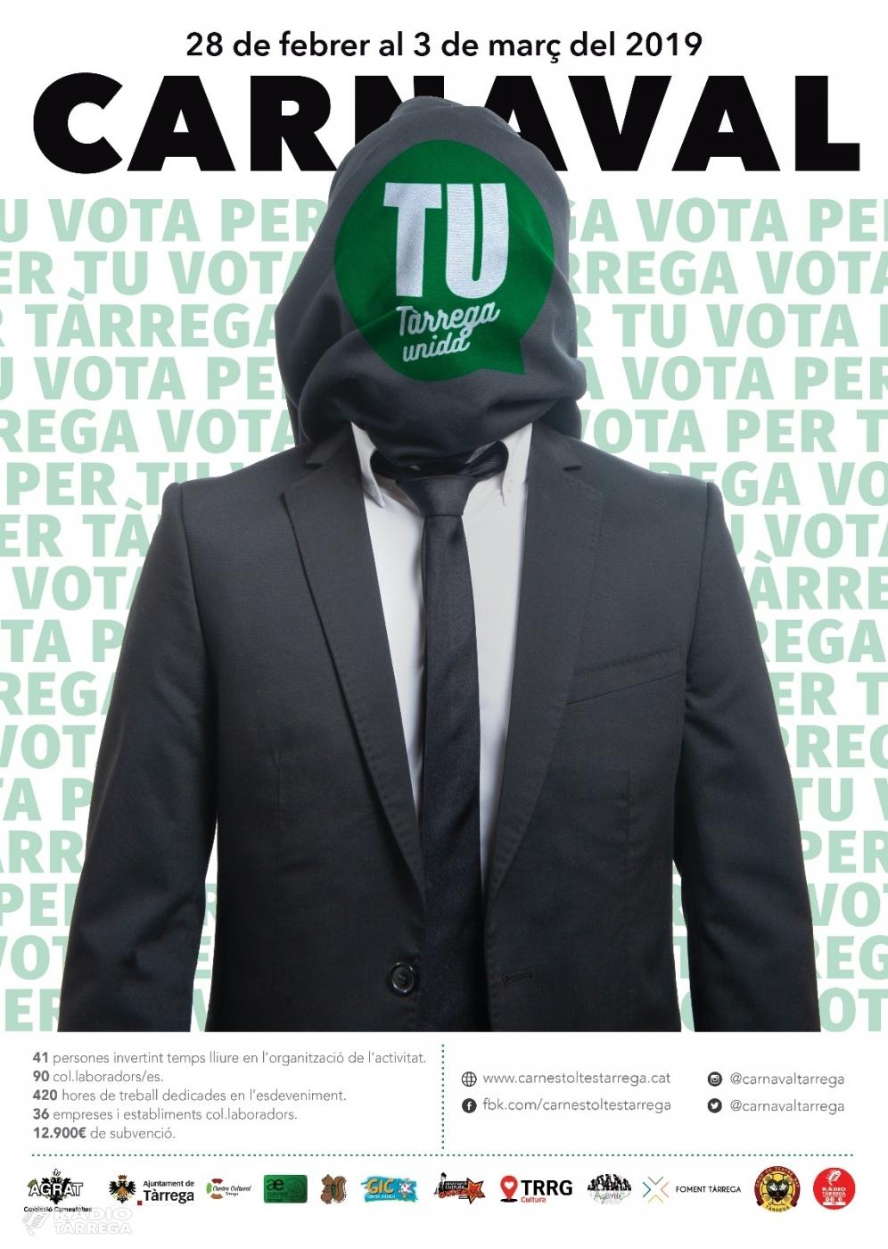 Tàrrega ja prepara una nova edició del Carnaval que enguany presenta com a temàtica una candidatura política a les eleccions municipals del 26 de Maig