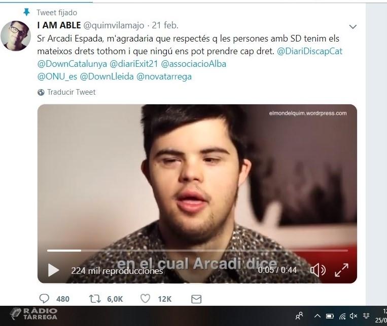 El targarí Quim Vilamajó respon a les polèmiques paraules d'Arcadi Espada amb un vídeo que s'ha fet viral