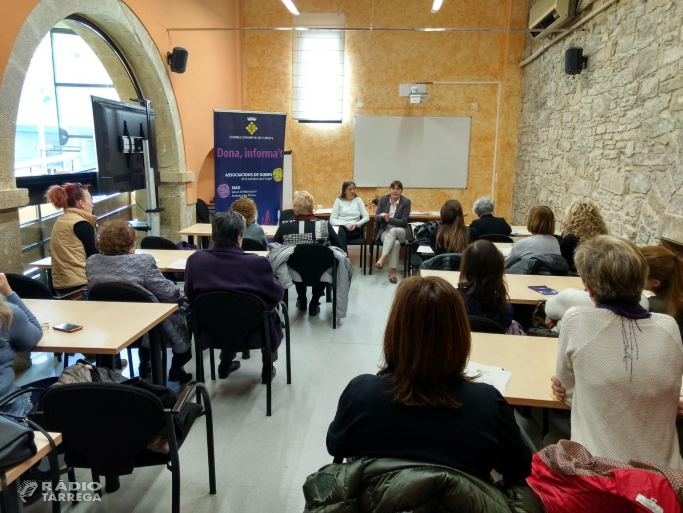 Reunió anual amb les presidentes de les associacions de dones de l'Urgell i els responsables de l'àrea de la dona dels diferents Ajuntaments