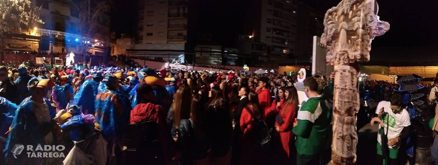 El Carnestoltes de Tàrrega 2019 tanca l'esdeveniment amb 1400 participants i 63 comparses a la rua de Dissabte