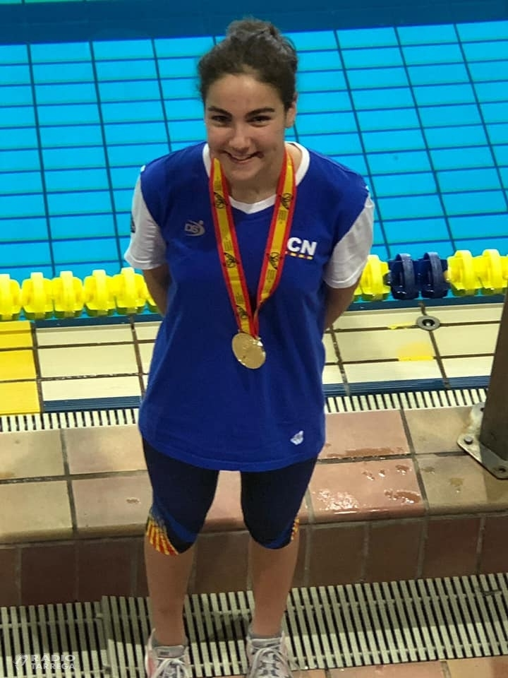 Laia Palomino campiona d'Espanya de natació amb la selecció catalana