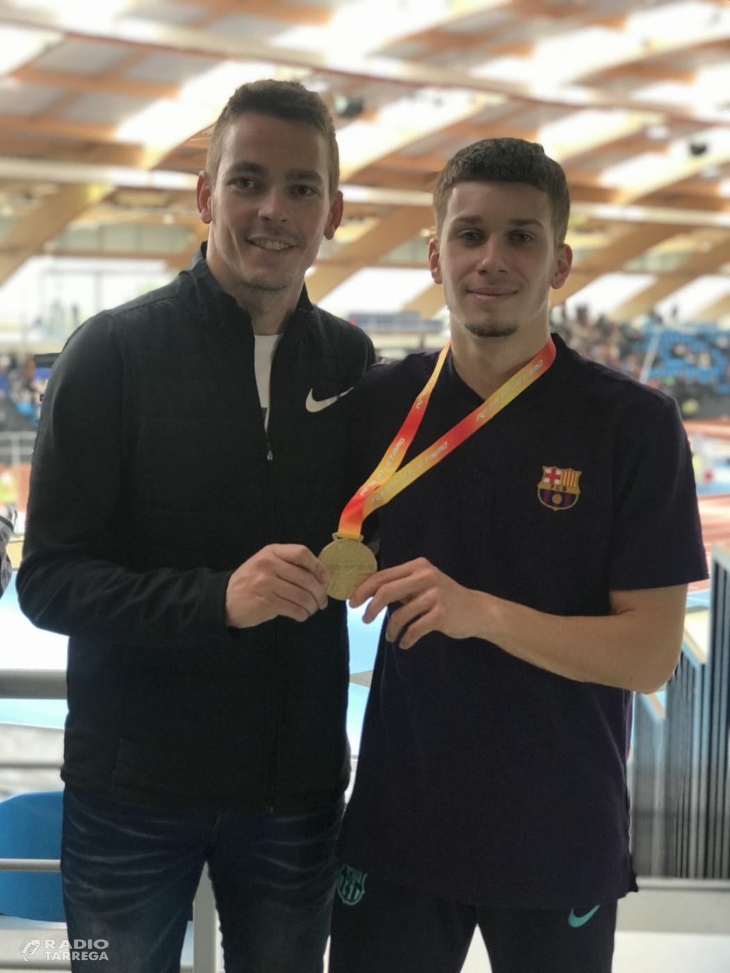 Arnau Monné, campió d'Espanya sub20 en 60 metres llisos