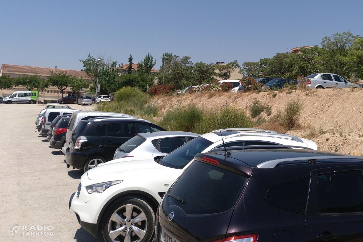 L'Ajuntament de Tàrrega adjudica les obres de millora de l'àrea d'estacionament situada a l'avinguda de l'Onze de Setembre, que guanyarà en capacitat