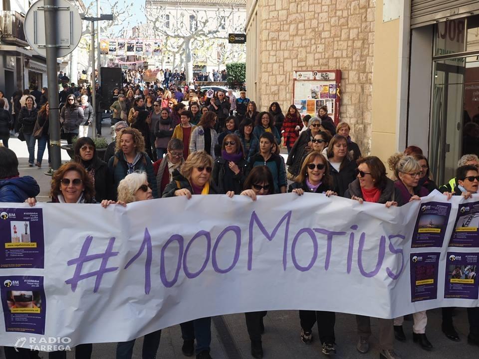 Mig miler de persones es manifesten a Tàrrega en motiu del 8M