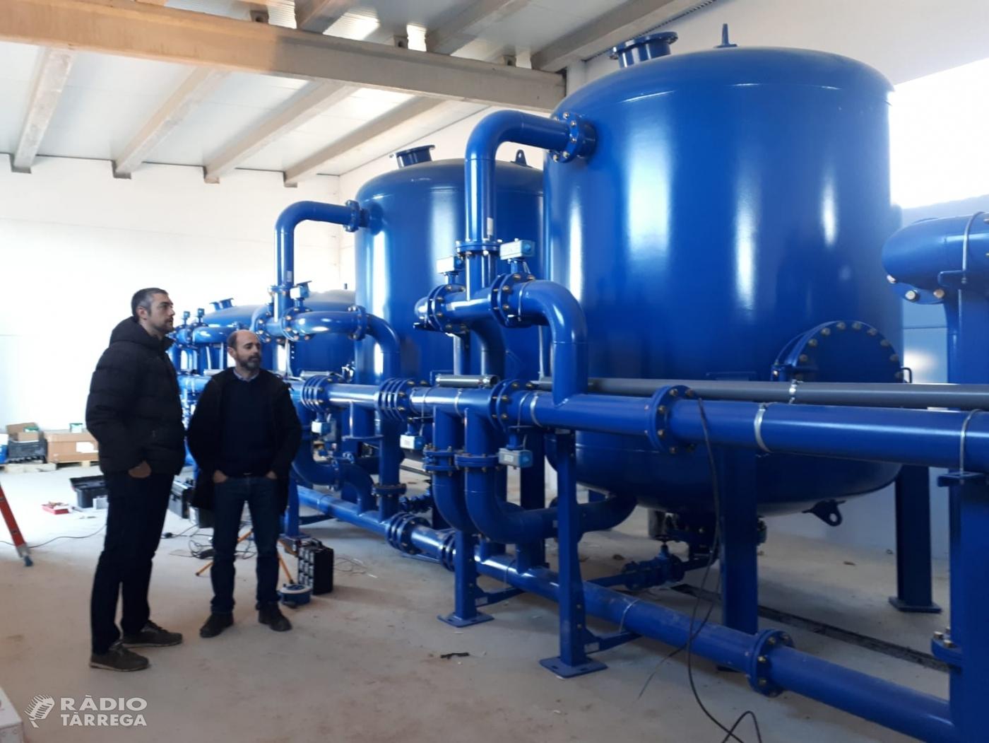 Avancen a bon ritme les obres de la potabilitzadora d'aigua d'Agramunt, que entrarà en funcionament el pròxim mes de maig