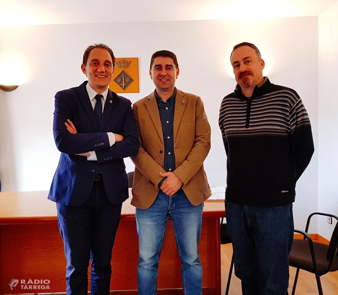 El subdelegat del Govern a Lleida, José Crespín, es reuneix amb els alcaldes de Guimerà i de Ciutadilla