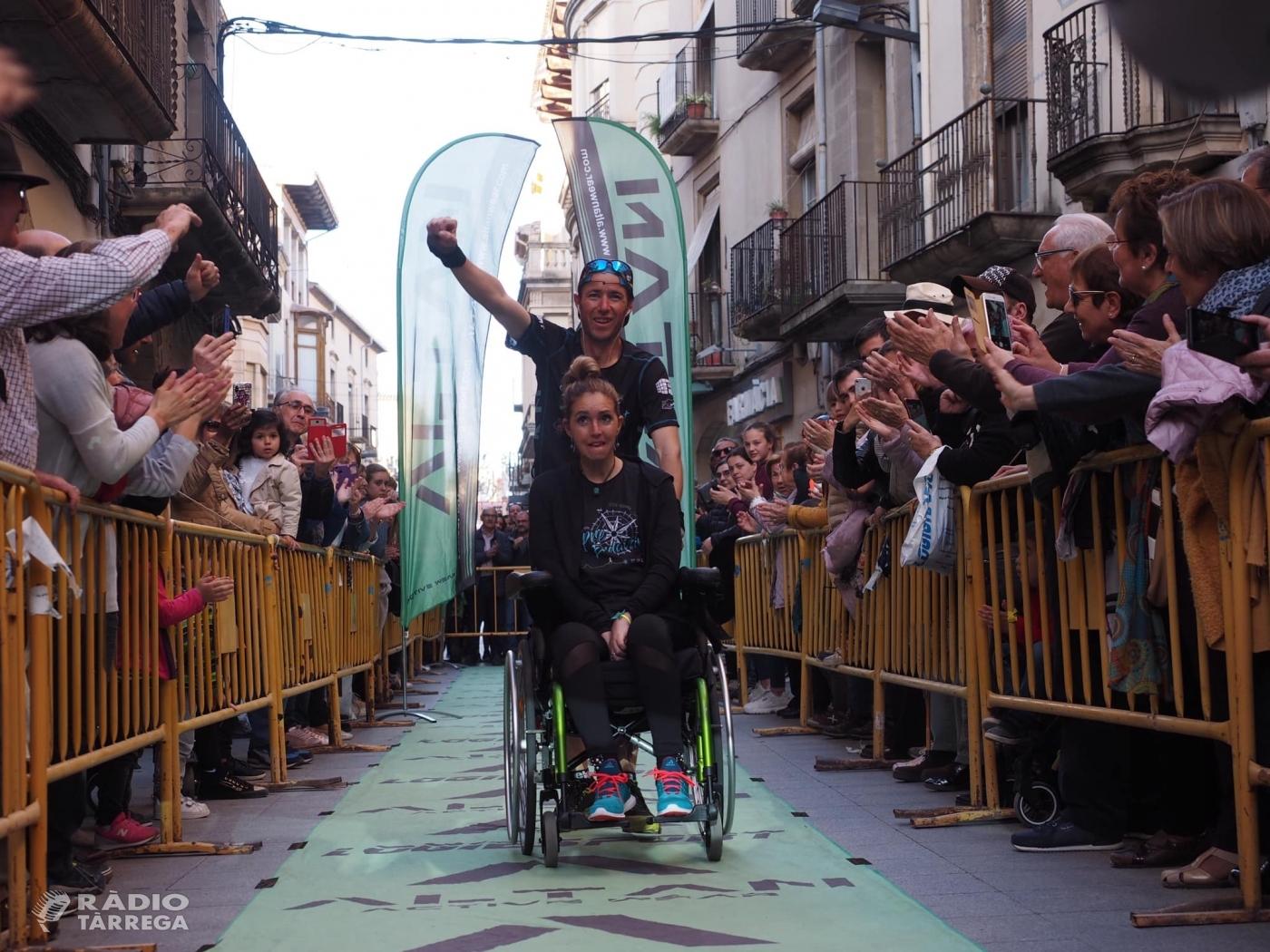 L'esportista targarí Raül Arenas recorre 190 quilòmetres per recaptar diners i finançar la publicació d'un conte infantil