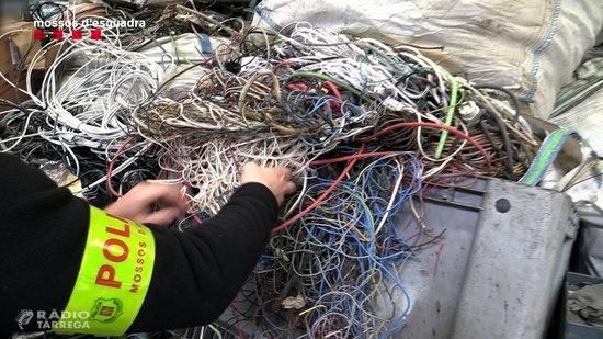 Sis detinguts per robar 45 quilòmetres de cablejat telefònic a poblacions de l'Alt Empordà, el Bages i la Segarra