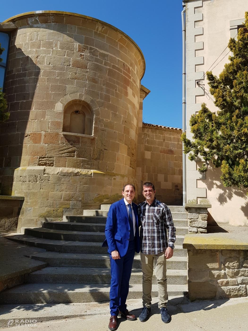 El subdelegat del Govern, José Crespin, es reuneix amb l'alcalde d'Ossó de Sió
