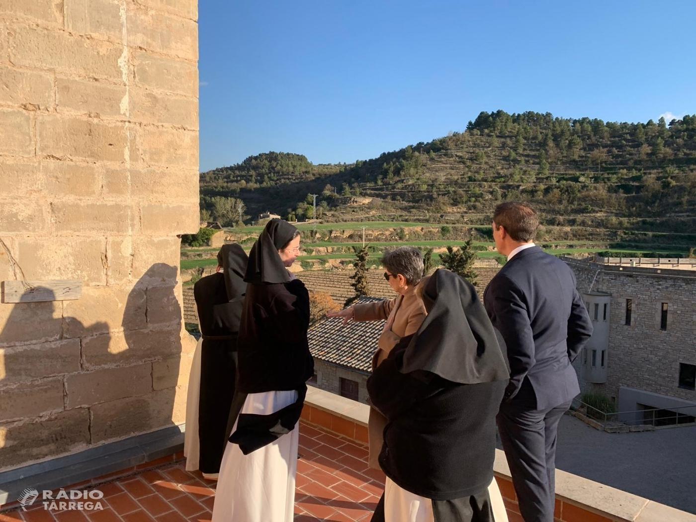 La delegada del Govern i el subdelegat a Lleida visiten el monestir de Vallbona de les Monges