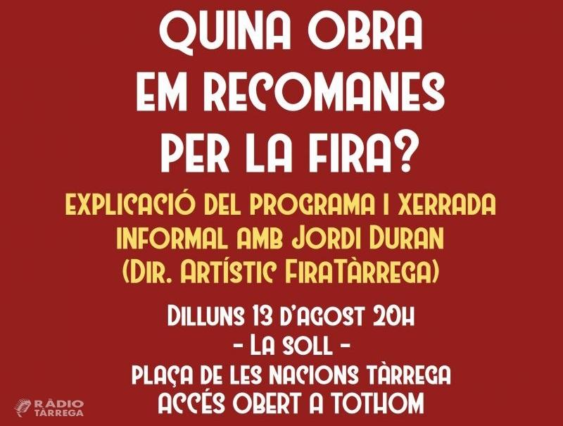 """L'Agrat i La Soll organitzen una xerrada amb Jordi Duran per saber """"Quina obra em recomanes per la Fira?"""""""