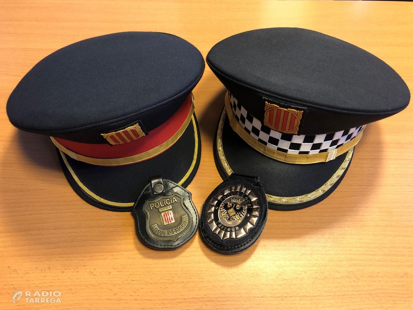 La Policia Local de Tàrrega i Mossos d'Esquadra detenen dos homes per un presumpte delicte de furt de tres telèfons mòbils en un comerç de la ciutat
