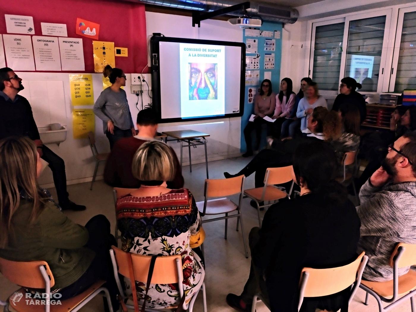 L'AMPA de l'Escola Maria Mercè Marçal de Tàrrega crea una comissió de suport a la diversitat per ajudar a les famílies