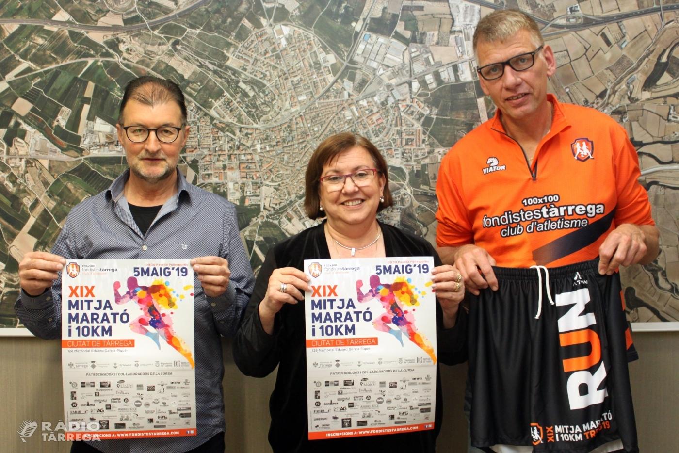 La 19a Mitja Marató i 10 KM Ciutat de Tàrrega, que se celebrarà el diumenge 5 de maig, preveu superar els 600 atletes participants