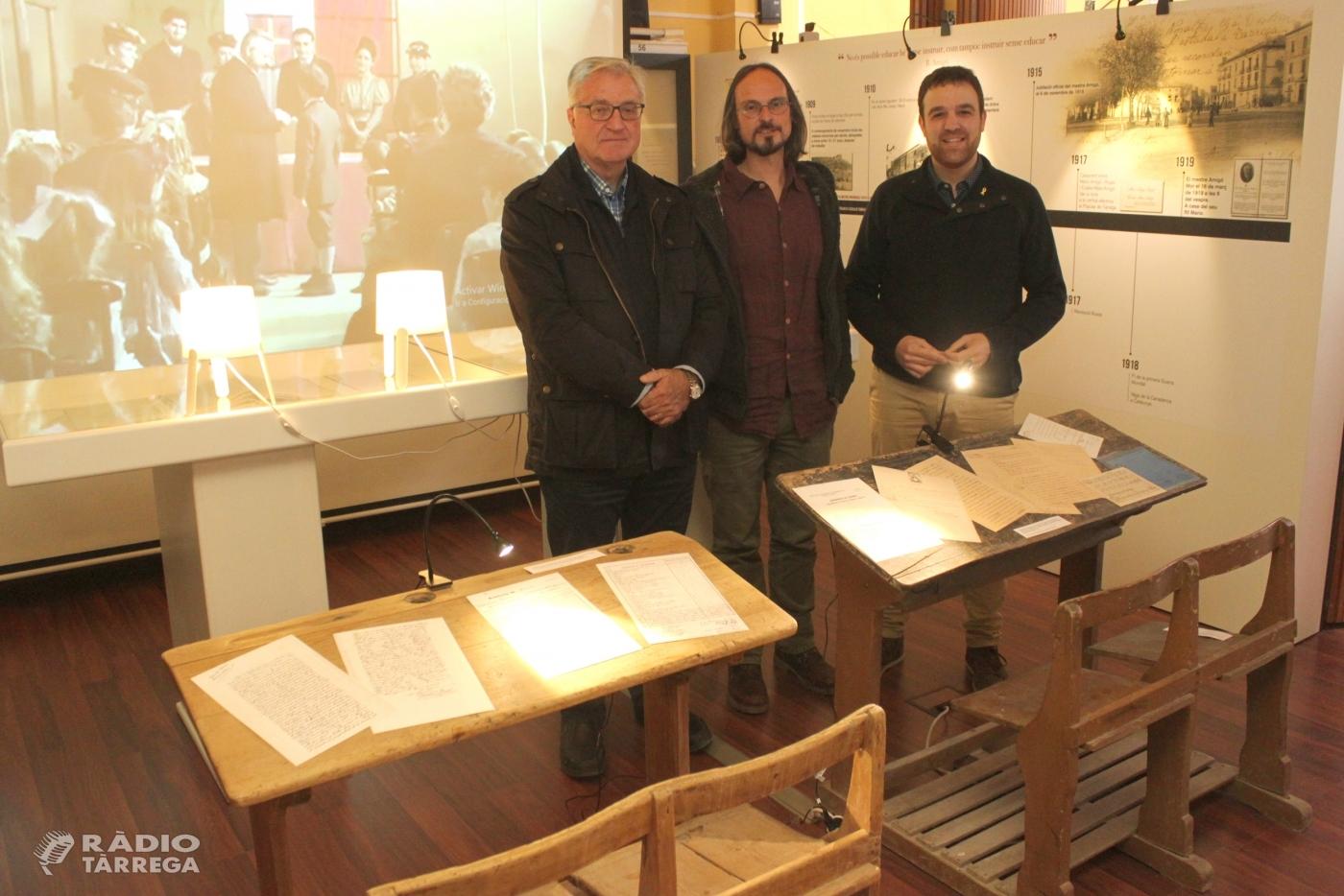 Tàrrega divulga en una exposició la figura del mestre Bonaventura Amigó, impulsor del Parc de Sant Eloi i renovador de la pedagogia