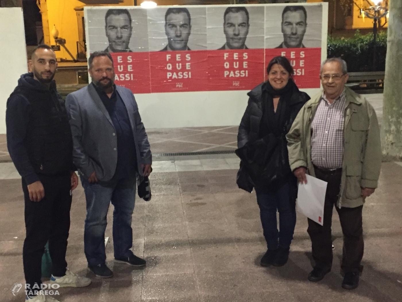 Tret de sortida a la campanya electoral del PSC a Tàrrega