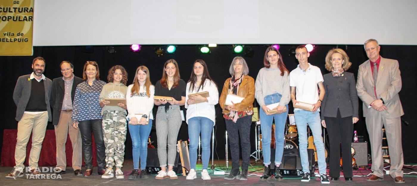 Guanyadors del  34è premi Valeri Serra i Boldú de Cultura Popular de Bellpuig en les categories Infantil i Juvenil