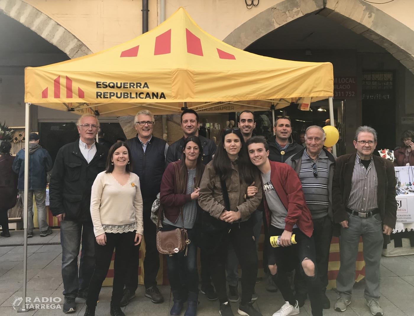 Esquerra Republicana i MES revaliden l'acord per a les eleccions municipals a Tàrrega