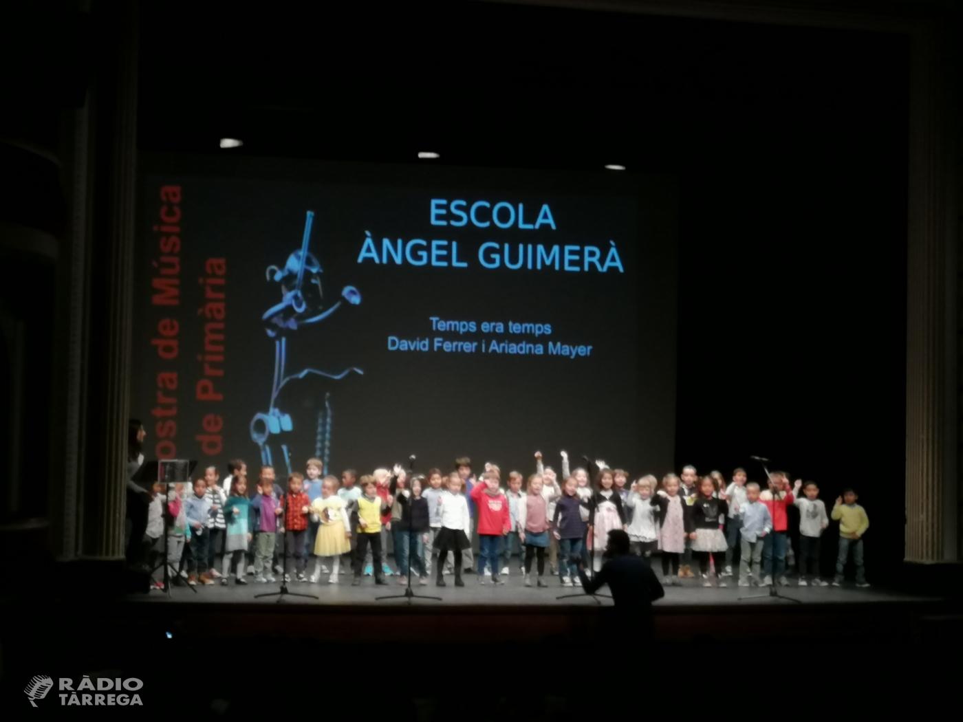 10a Mostra de Música de l'Urgell a Tàrrega, protagonitzada per alumnes de primària