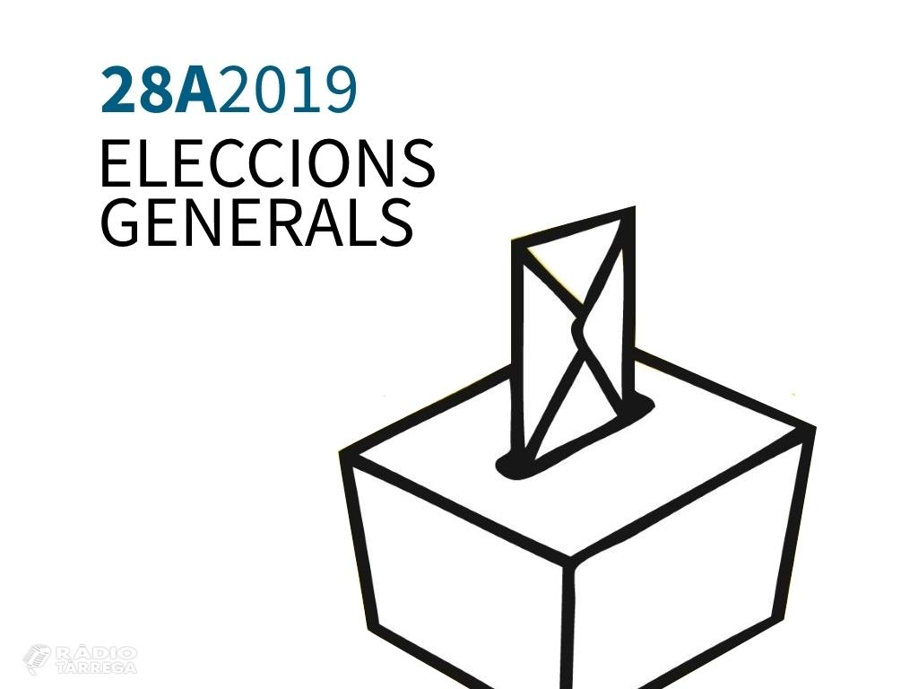 Eleccions generals 28-A: 10.819 electors són cridats a les urnes al municipi de Tàrrega, on s'habilitaran 11 locals electorals i 18 meses
