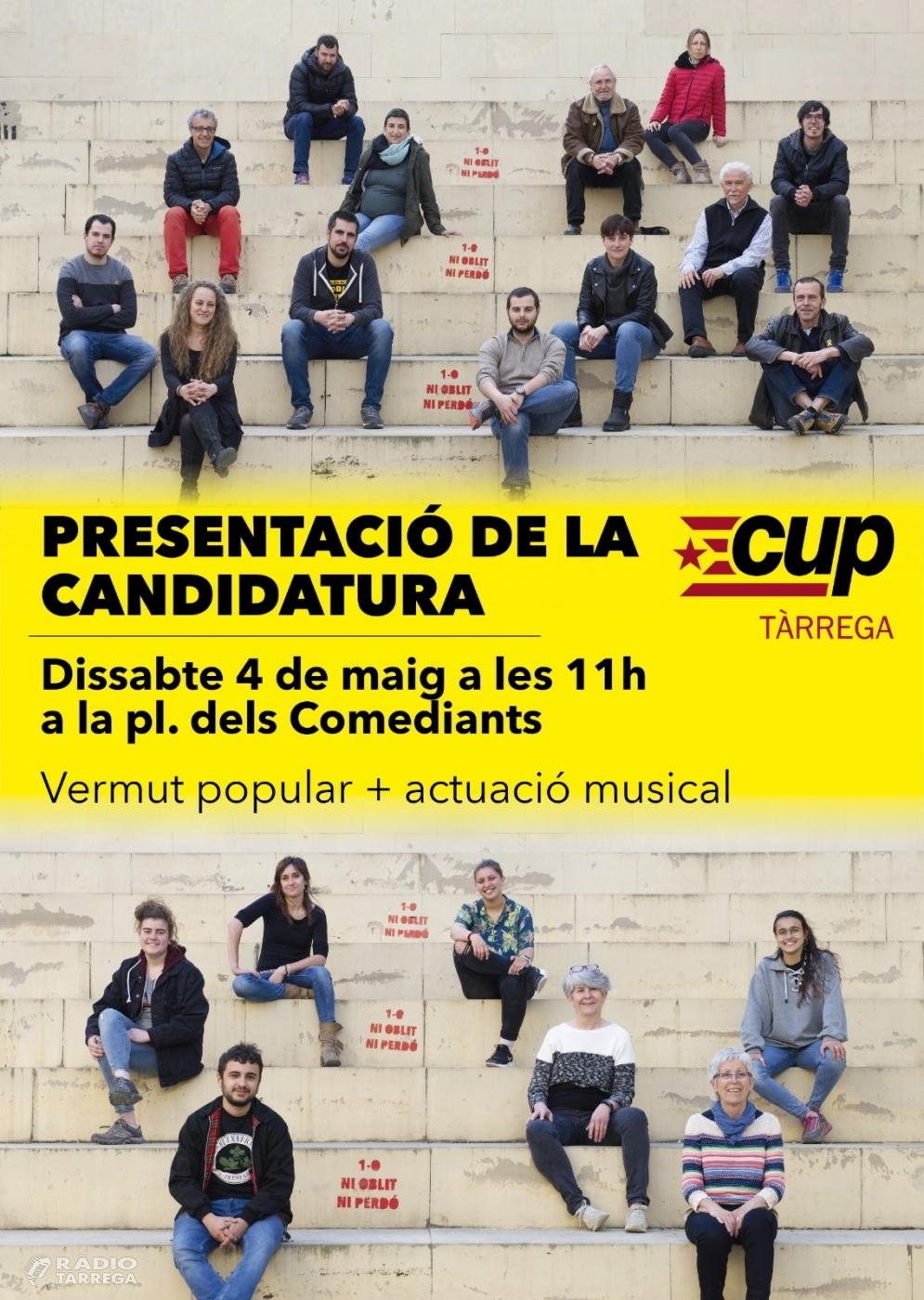 La CUP de Tàrrega presenta la llista i el programa a les municipals