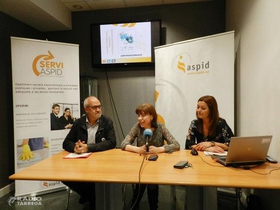 Aspid va ajudar 320 persones amb discapacitat o en situació d'atur a trobar feina durant el 2018