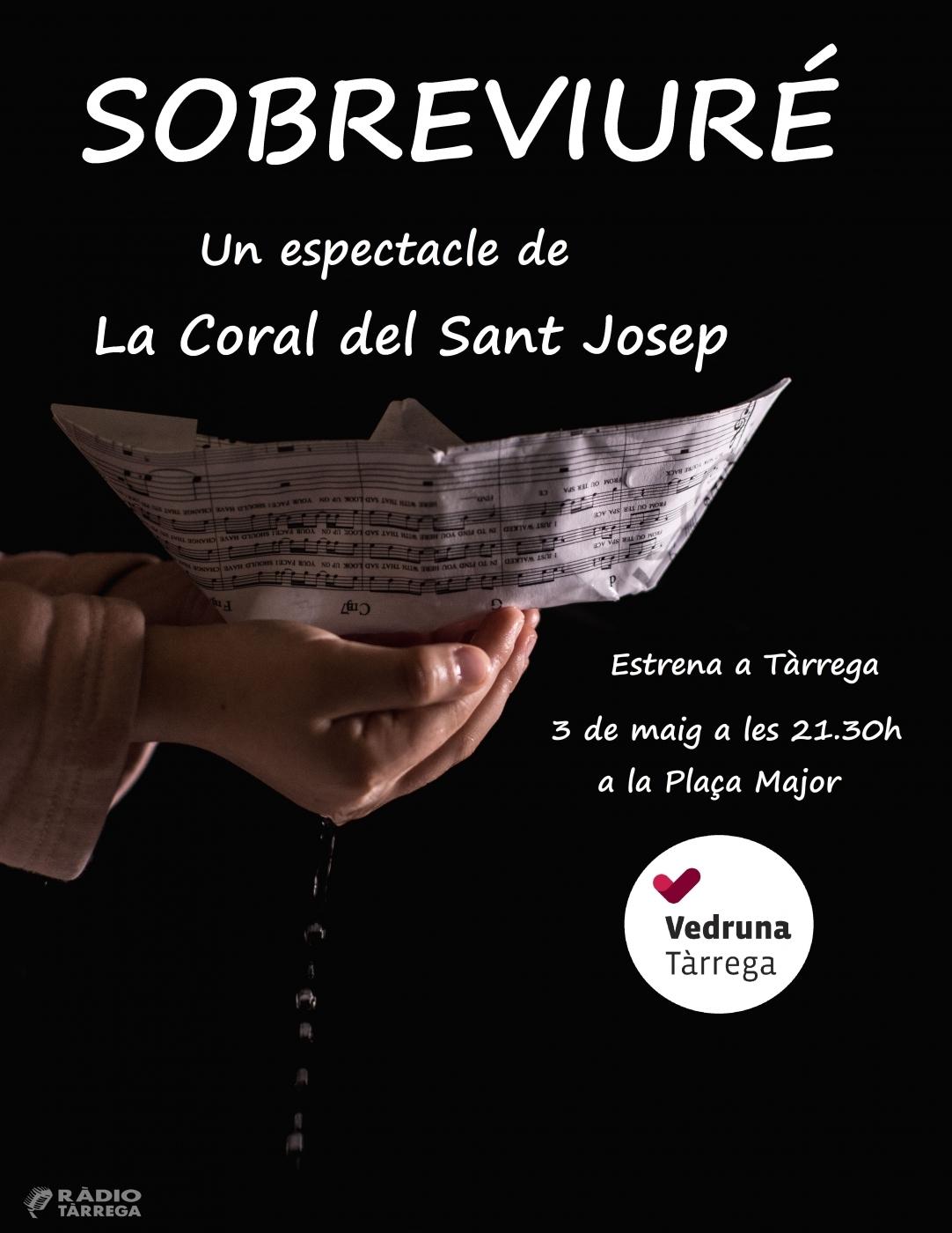 Les corals de l'escola Sant Josep de Tàrrega estrenaran l'espectacle Sobreviuré amb 180 cantants damunt l'escenari