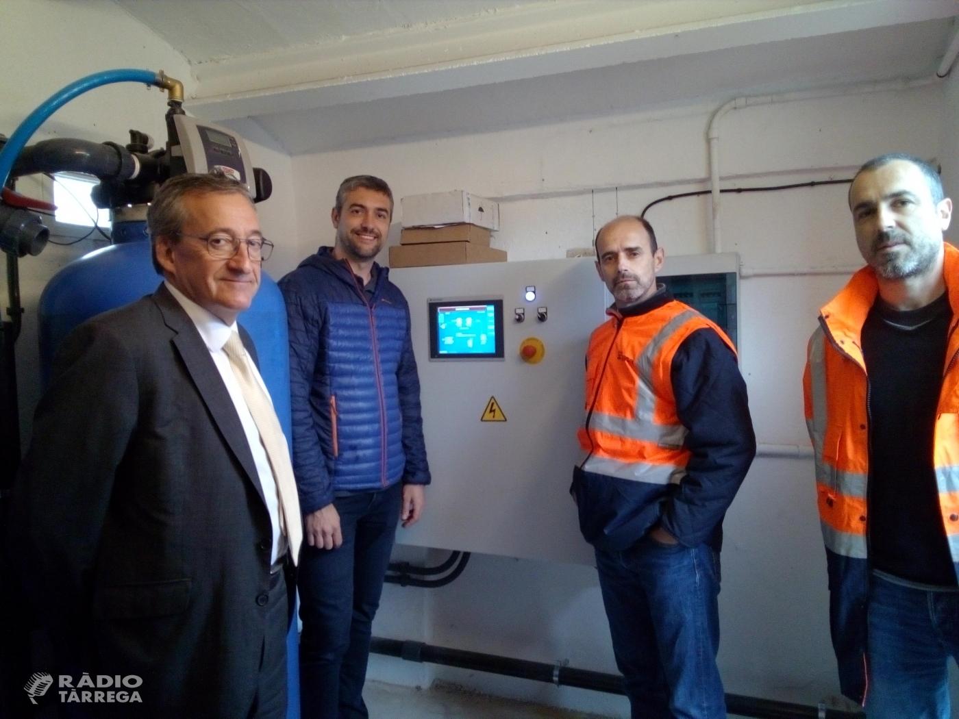 La nova potabilitzadora d'Almenara en funcionament