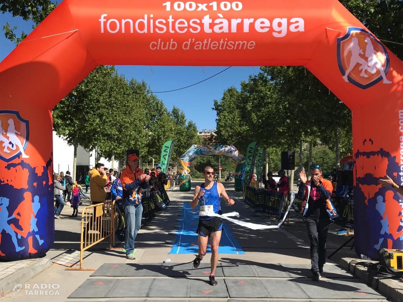 Ricard Pastó i Katherine Chaplin, guanyadors de la Mitja Marató de Tàrrega, segona prova de les mitges de Ponent