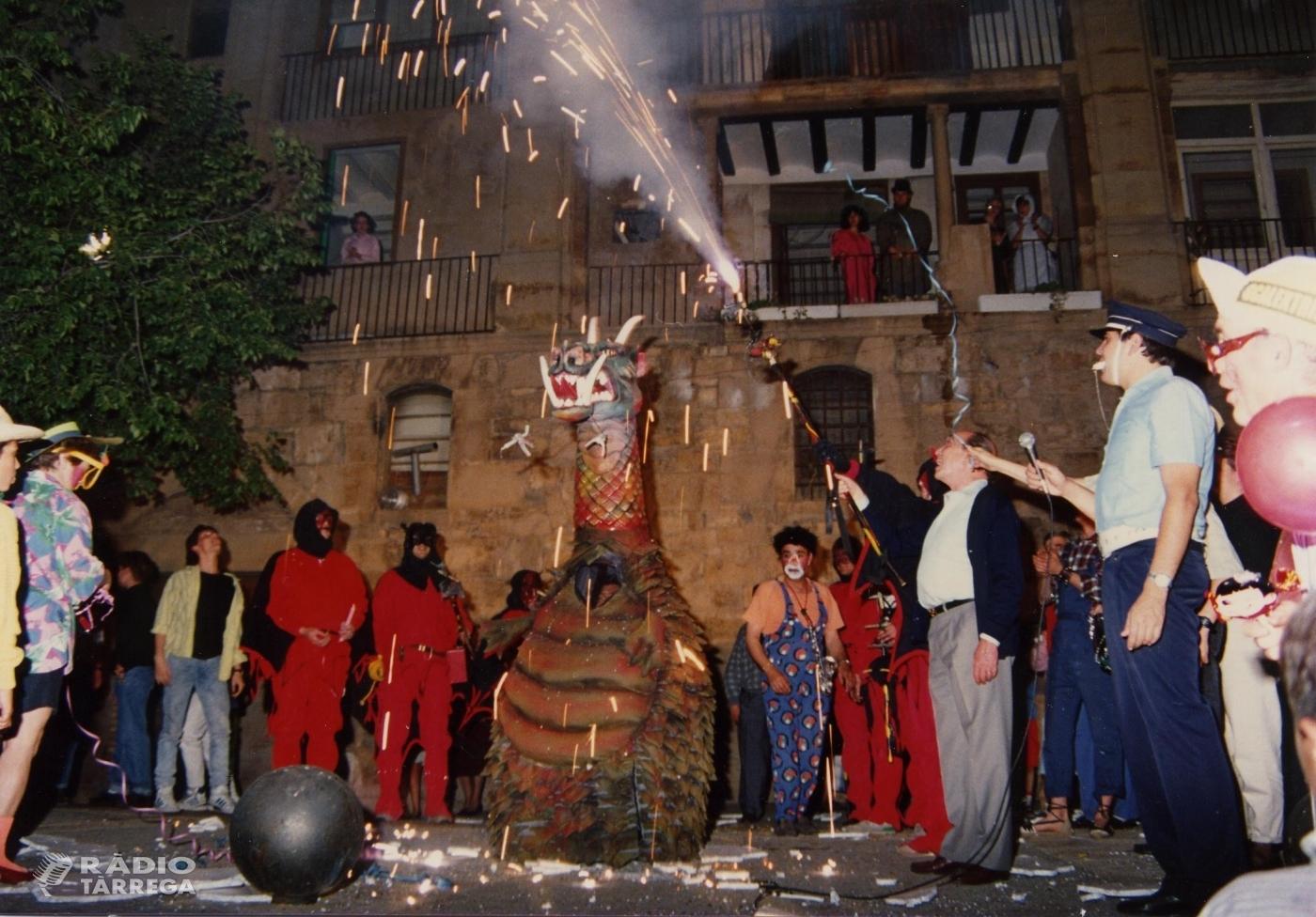 El Drac de Tàrrega celebra 30 anys amb una festa i un correfoc