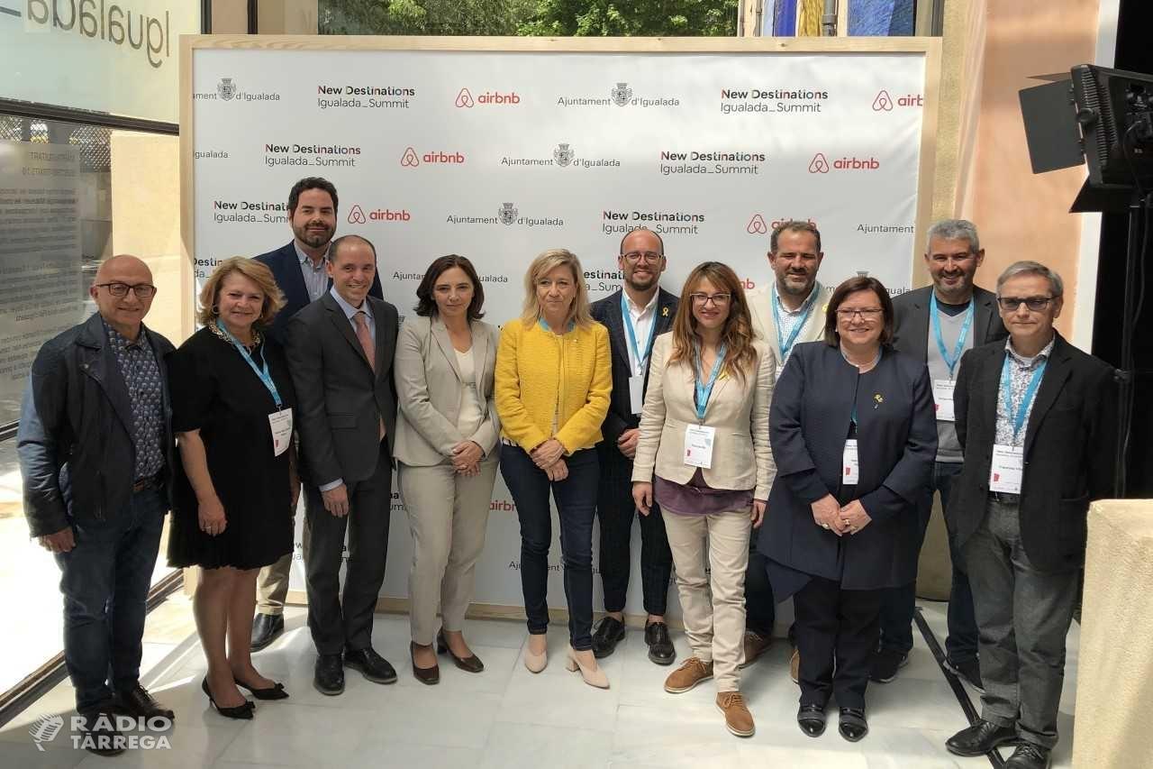 L'alcaldessa de Tàrrega i presidenta de la Diputació de Lleida, Rosa Maria Perelló, participa al New Destinations Summit, jornada sobre turisme sostenible