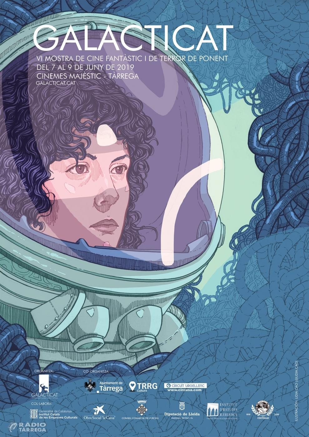 La 6a edició del Galacticat, Mostra de Cinema Fantàstic i de Terror de Ponent, presenta més de 118 pel·lícules del 7 al 9 de juny a Tàrrega, inspirat en 'Alien' i les heroïnes del gènere fantàstic