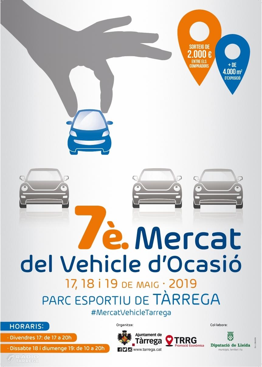 Arriba la 7a edició del Mercat del Vehicle d'Ocasió de Tàrrega, del 17 al 19 de maig amb més de 350 models a la venda
