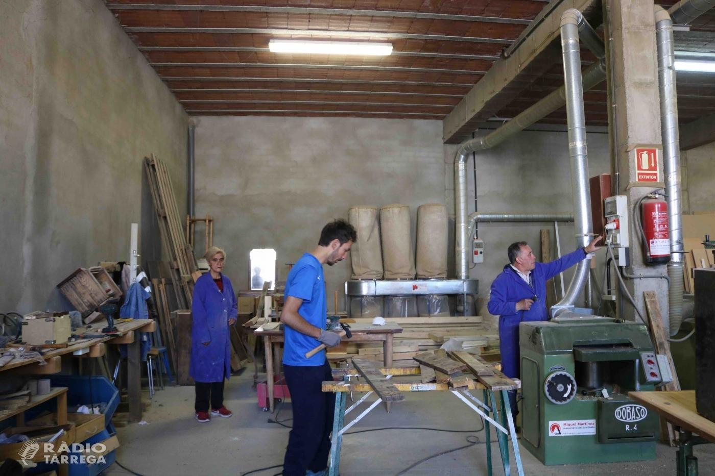 El Grup Alba reobre una antiga fusteria de Tàrrega per iniciar una nova activitat amb finalitats laborals i terapèutiques.