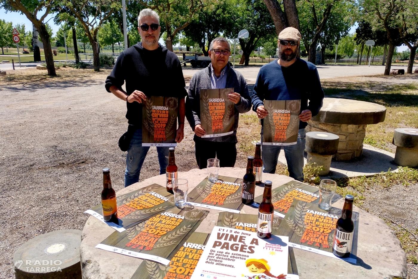 La 7a Fira de la Cervesa Artesana de Tàrrega se celebrarà el dissabte 1 de juny i aplegarà per primera vegada tots els elaboradors lleidatans amb marca pròpia