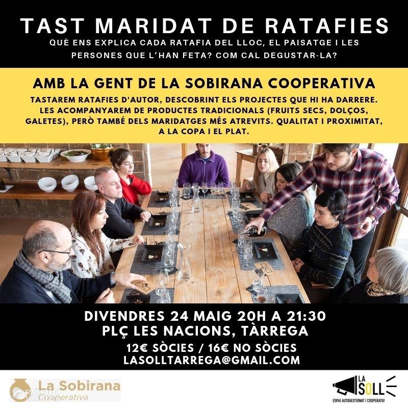 La Soll organitza un Tast de Ratafies a càrrec de La Sobriana Cooperativa aquest divendres