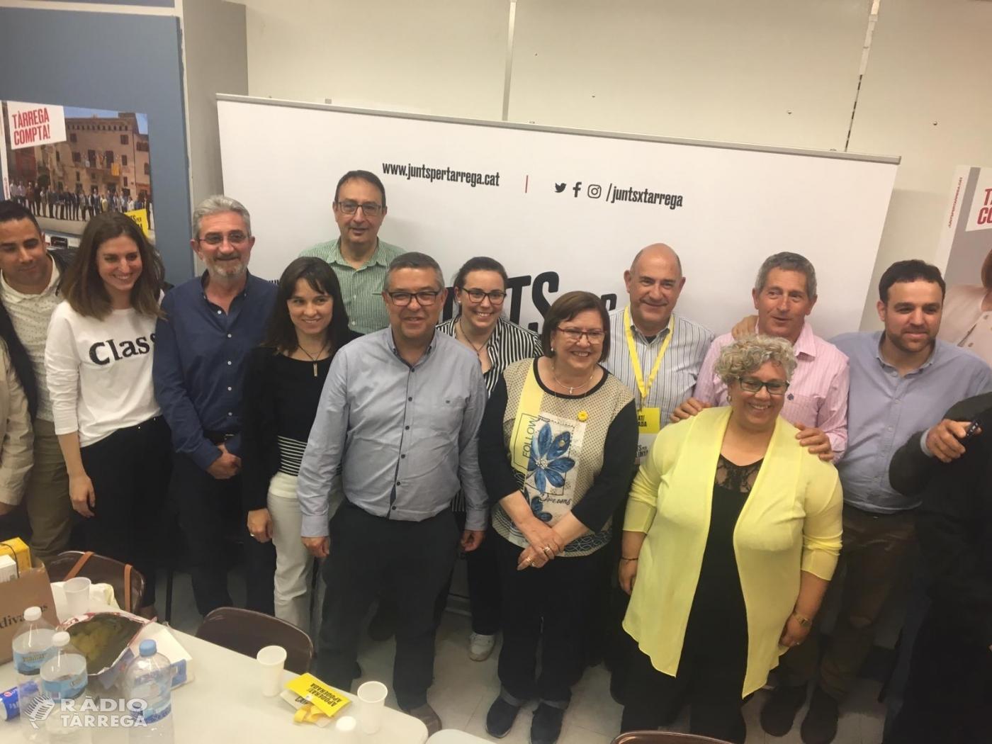 Junts per Tàrrega, amb Rosa Maria Perelló al capdavant, torna a guanyar les eleccions Municipals a Tàrrega