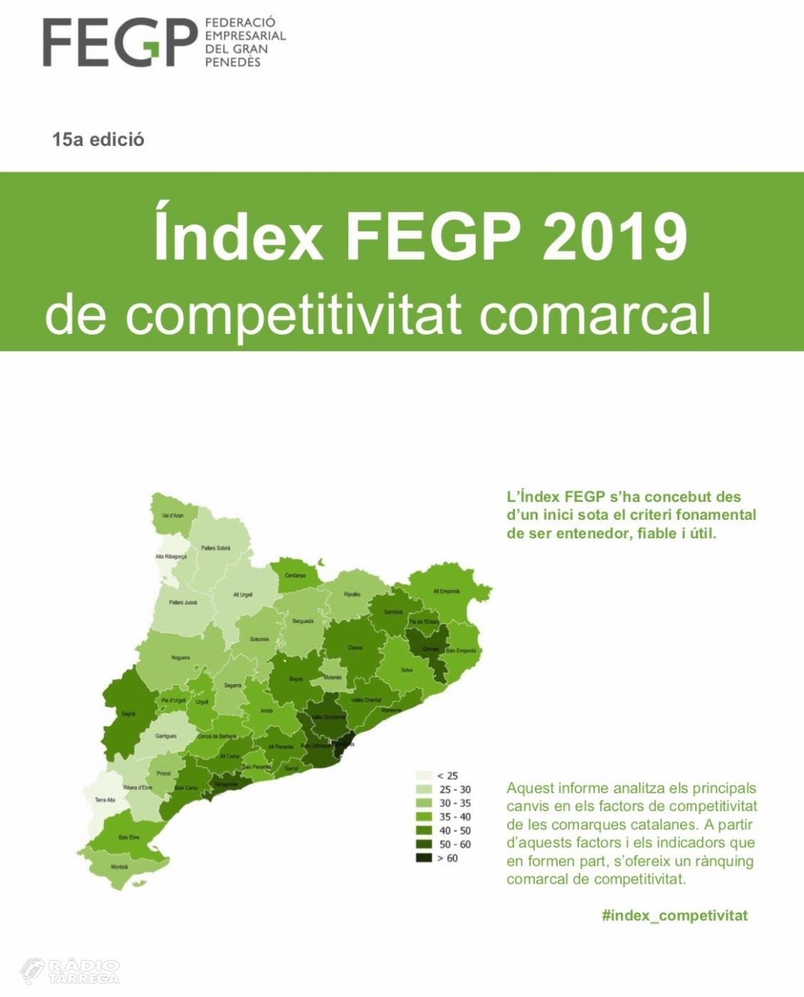 L'Urgell és la segona comarca de Ponent més ben posicionada en el rànquing de l'Índex 2019 de competitivitat comarcal
