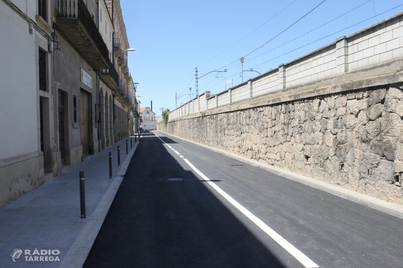 Tàrrega reobre al trànsit el carrer del segle XX una vegada finalitzades les obres de millora