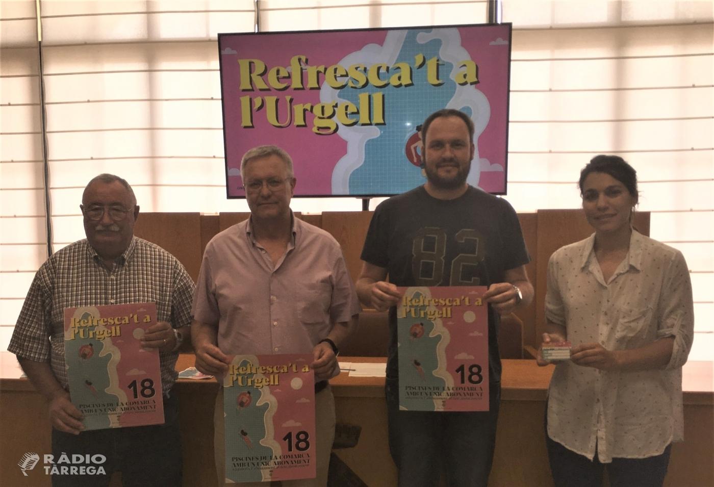 El Consell Comarcal presenta el Carnet Comarcal de Piscines de l'Urgell per aquest estiu