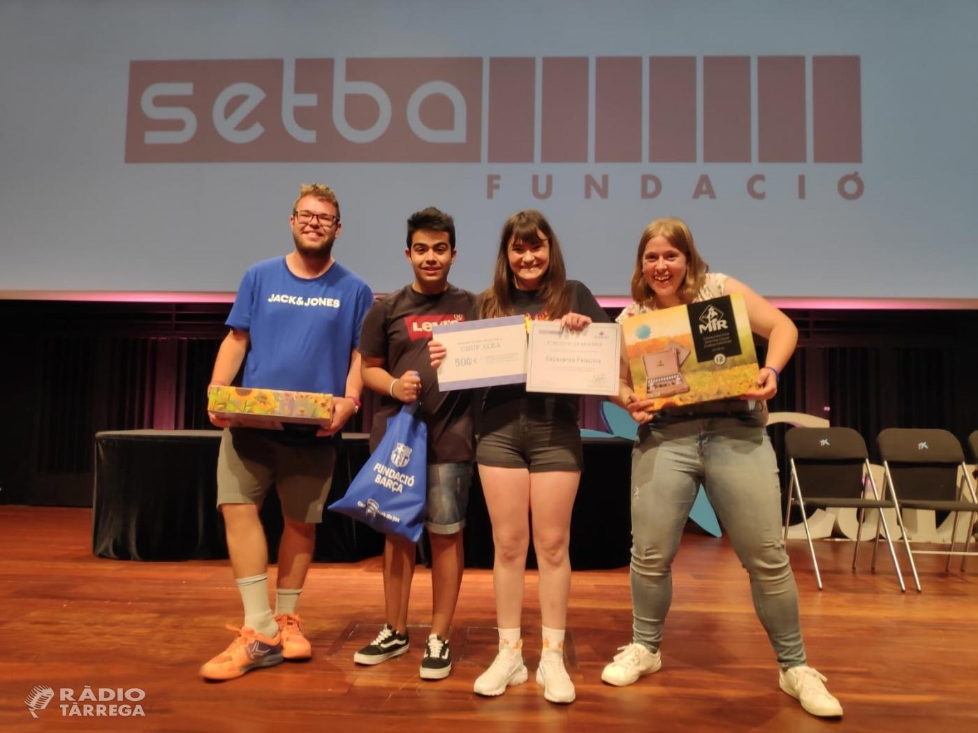 Dos alumnes de l'escola del Grup Alba guanyen els 1rs premis del certamen de pintura El Balcó de les Arts 2019 i disseny Bardinet de la Fundació SETBA