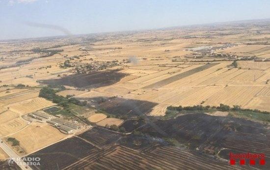 L'incendi estabilitzat de Pallargues afecta 6,2 hectàrees i el del Montmell crema 2,9