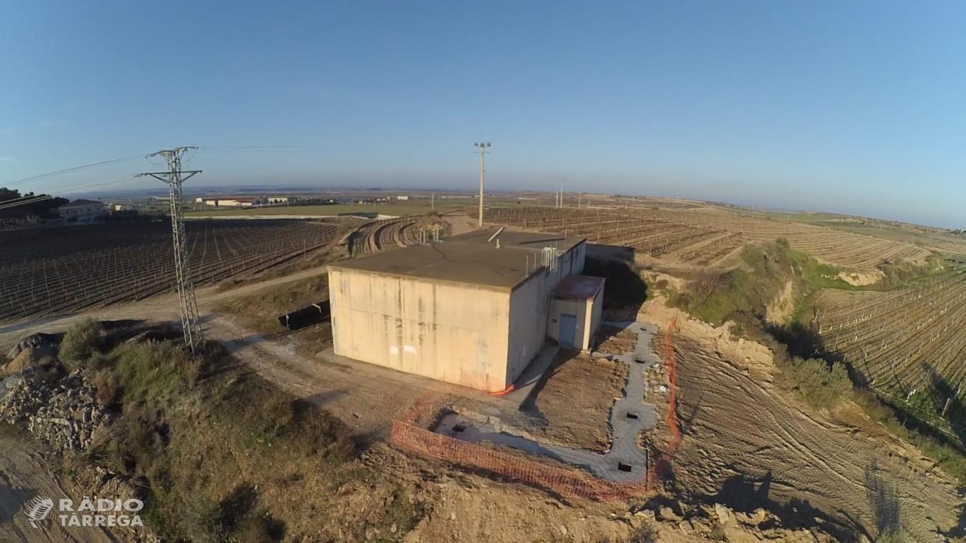 Posada en servei de l'Estació de Tractament d'Aigua Potable a Verdú