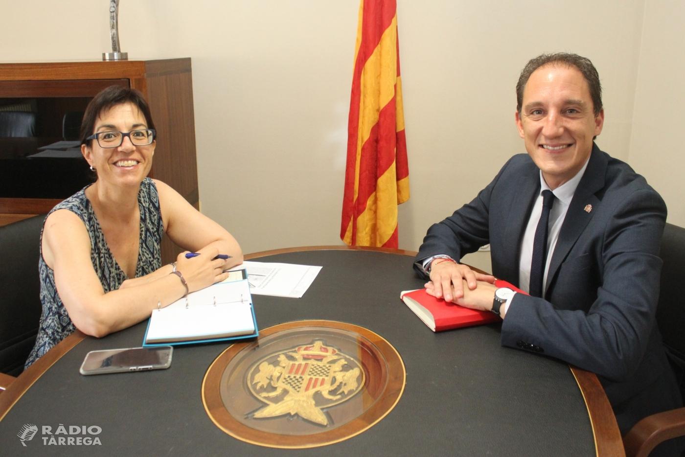 Reunió de treball entre l'alcaldessa de Tàrrega i el subdelegat del Govern a Lleida