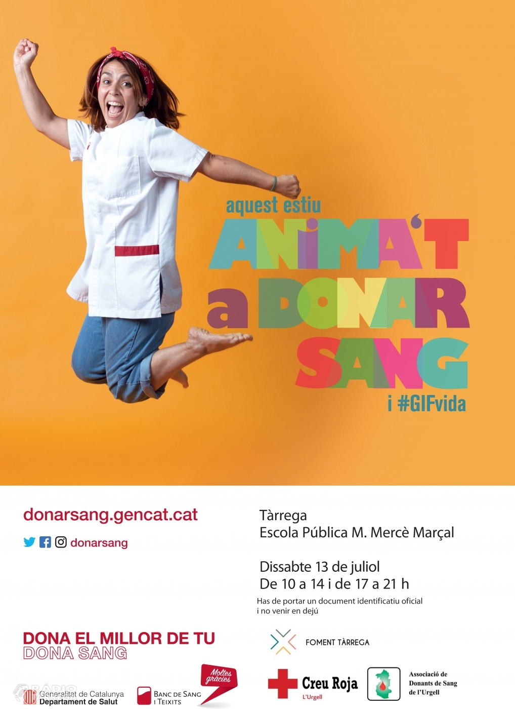L'equip d'infermeria del Banc de Sang protagonitza la campanya d'estiu, per aconseguir 35.000 donacions els mesos de juliol i agost
