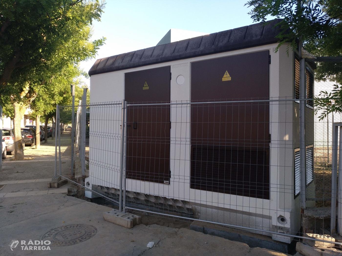 Endesa instal·la una estació transformadora per regularitzar la situació d'un bloc d'habitatges a Tàrrega