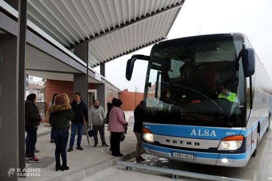 Rècord de passatgers als autobusos públics de la demarcació de Lleida durant el primer semestre de l'any