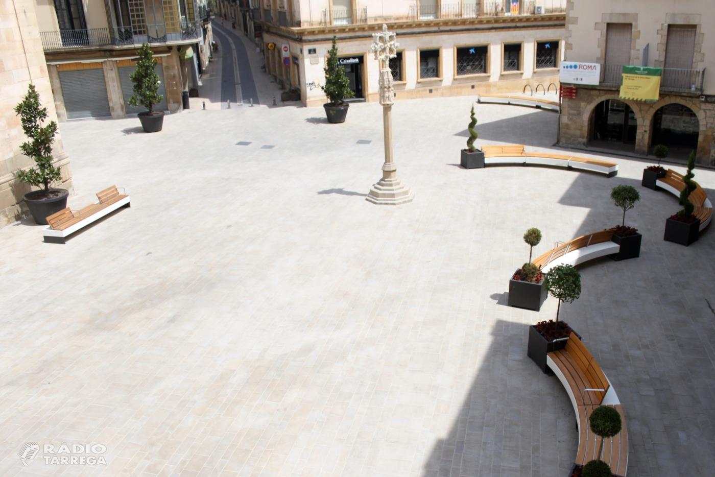 Tàrrega fixa la nova ordenació del trànsit a la plaça Major, que permetrà l'accés a vehicles de persones amb d'altres capacitats i per a usos de càrrega i descàrrega