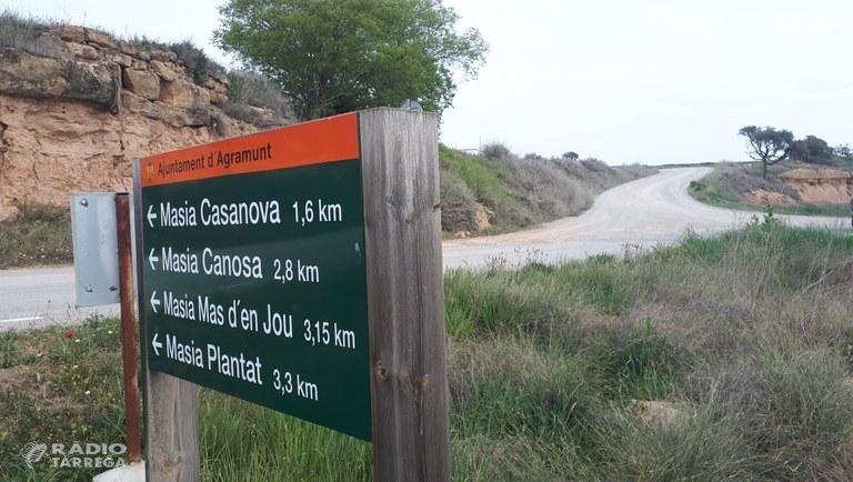 L'Ajuntament d'Agramunt i Agricultura s'han posat d'acord per iniciar les obres d'arranjament del camí entre Agramunt, Les Puelles i Oliola