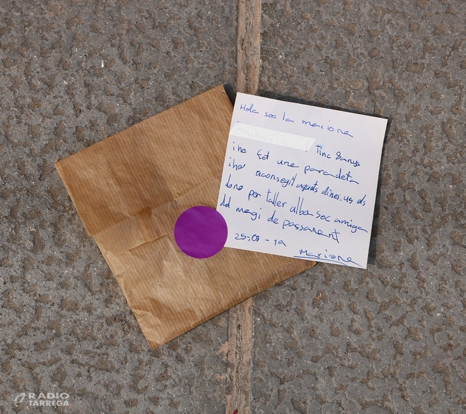 Es fa viral la carta amb un donatiu que una nena de vuit anys ha deixat a la porta de l'Associació Alba de Tàrrega